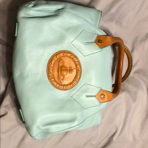 b0477b25c942 Vivien Westwood light blue cameo bag